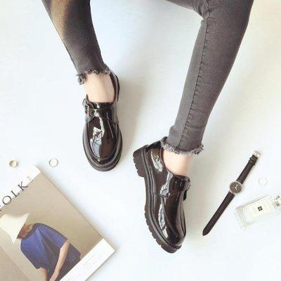 小皮鞋女2018新款正韓百搭學生英倫女鞋平底中跟學院風潮XSD-NW1152