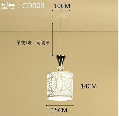 【新視界生活館】CD009白色款北歐餐廳吊燈創意個性餐廳燈飯廳燈現代鐵藝XSJ❤818303