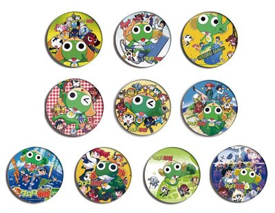 KERORO GUNSO Anime Pin Pinback BADGE SET 軍曹 動漫漫畫襟章 1a (一套10個)