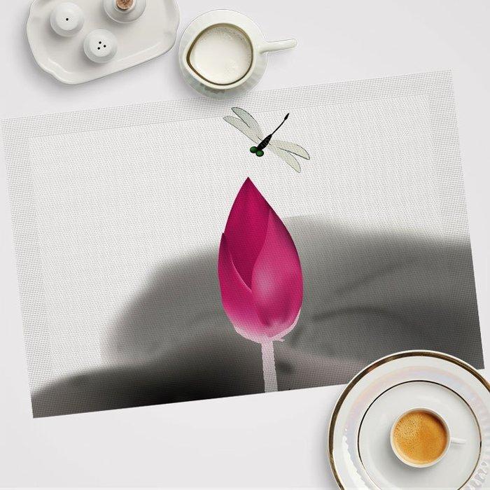 中國風 隔熱墊 PVC餐桌 防燙墊歐式防水餐盤墊西餐墊杯墊定制