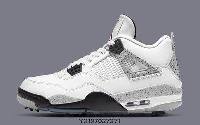 全新正品 Nike Air Jordan 4 Golf White Cement 灰白 白水泥 CU9981-100