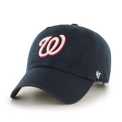 【YZY台灣】47 BRAND 華盛頓國民 W NATIONALS 老帽 復古帽 老爺帽 MLB LOGO 經典 藍