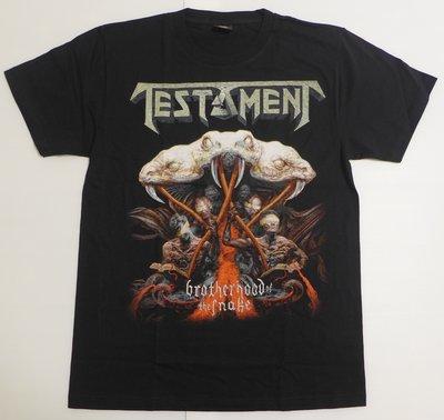 【Mr.17】 Testament 聖約樂團 Brotherhood 重金屬 T-SHIRT 短袖樂團T恤 (H721)