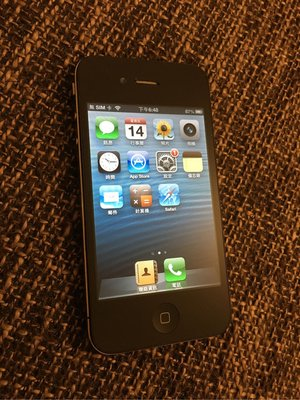 iPhone 4 8GB 黑色(適合收藏)