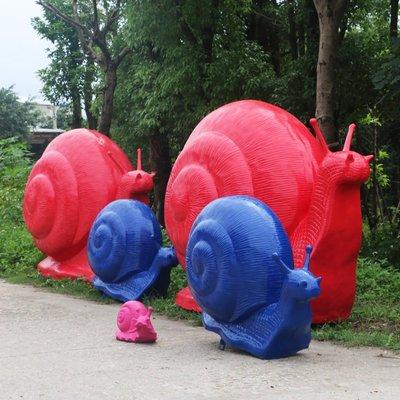 大蝸牛擺件戶外玻璃鋼爬行動物雕塑園林景觀大型商場步行街裝飾品小豬佩奇