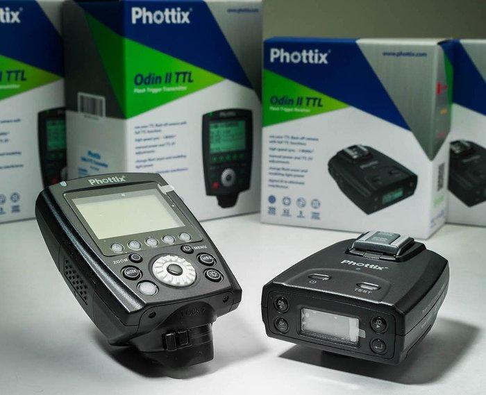 呈現攝影-Phottix Odin II TTL套組 for Canon 閃燈觸發器 對焦輔助燈 棚燈人像 外拍 離機閃