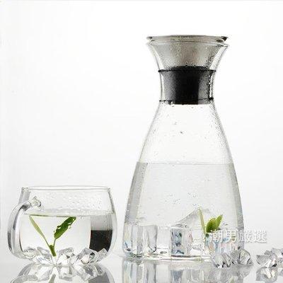 家用冷水壺北歐風格耐熱玻璃涼水壺玻璃壺