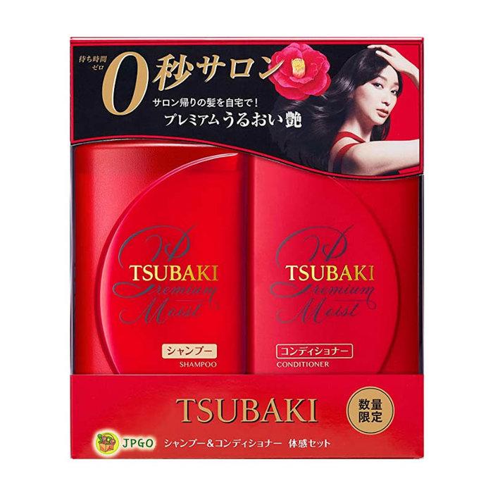 【JPGO】日本製 TSUBAKI思波綺 山茶花潤澤保濕洗潤組 洗髮.潤髮#765