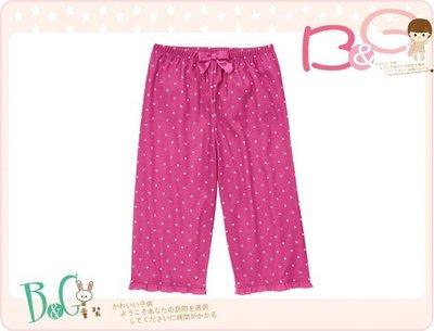 【B& G童裝】正品美國進口GYMBOREE Polka Dot 小點點紫紅色家居長褲S號4-6yrs