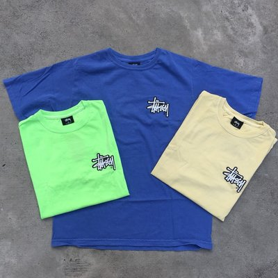 ☆LimeLight☆ STUSSY SHADOW STOCK PIG. DYED TEE 藍色 & 黃色 & 蘋果綠