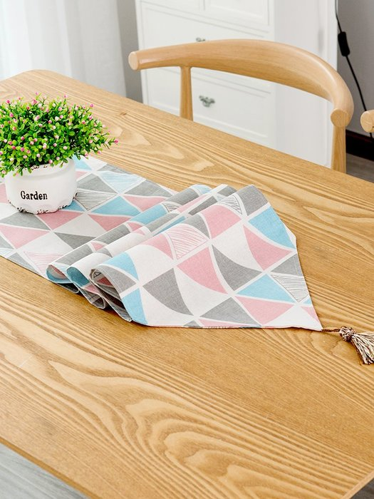 布料 北歐桌旗現代簡約歐式茶幾桌旗布電視柜長條餐桌茶臺布藝棉麻床旗