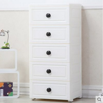 『格倫雅』納雅樂收納櫃抽屜式夾縫兒童衣櫃多層 簡易塑膠儲物櫃宜家五鬥櫃^15723