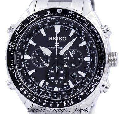 ((天堂鳥)) 超個性SEIKO SSG001P1 Prospex Radio Sync太陽能世界時間多功能計時碼錶