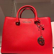 Michael Kors MK 紅色兩用手袋 Red Satchel Leather 2 Ways Handbag