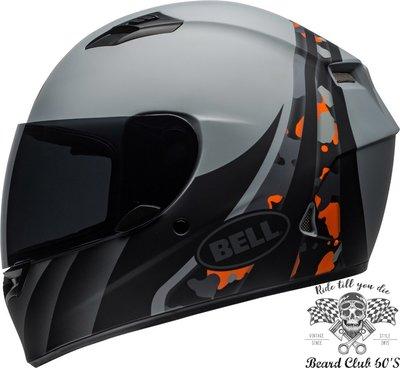 ♛大鬍子俱樂部♛ Bell ® Qualifier Integrity 美國 原裝 消光 迷彩 灰/橘 全罩 安全帽