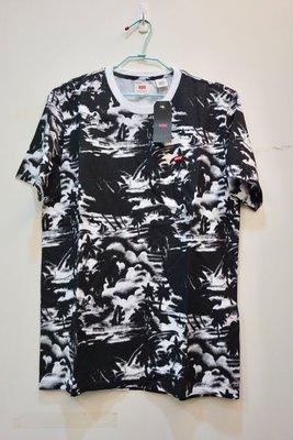 賣個JORDAN Levis 夏威夷 海灘風短袖T恤 L號