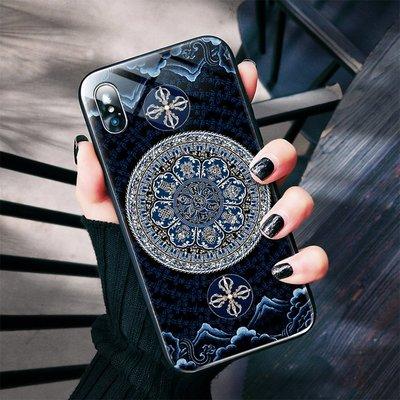 【睿智精品】iPhone手機殼 八吉祥手機殼 金剛杵手機殼 玻璃殼(GA-2988)