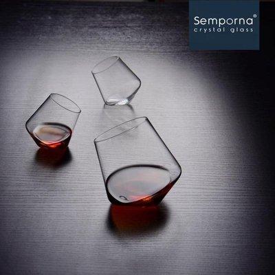 Semporna高檔無鉛水晶創意紅酒杯冷水白酒洋酒杯啤酒耐熱果汁杯yi   全館免運