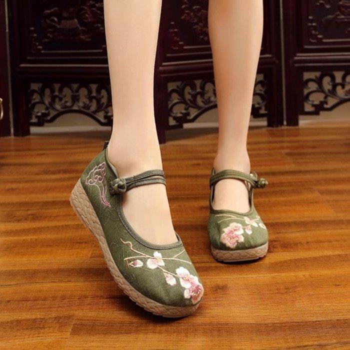 老北京布鞋中國民族風特色繡花鞋漢服搭配女鞋單鞋子