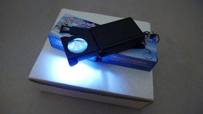 附發票*東北五金*高品質30倍 X 21mm LED燈放大鏡 珠寶鏡 珠寶放大鏡 超迷你 方便收納!(內附電池不保證有電
