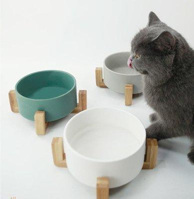 哆啦陶瓷貓碗狗碗貓飯盆大容量囤飯碗水碗貓食盆碗架ins貓咪用品