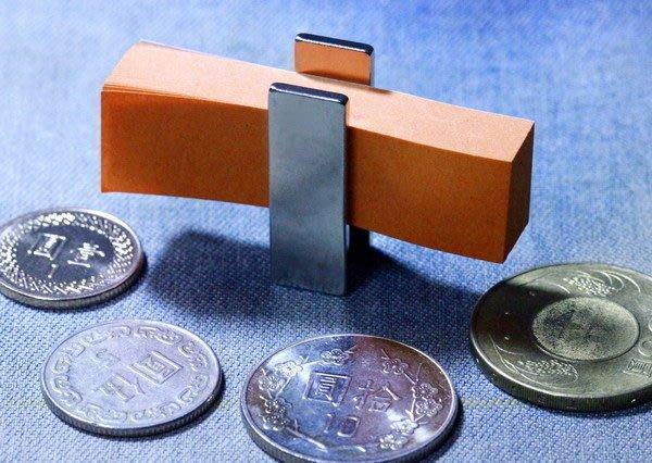 釹鐵硼磁鐵-30mmx10mmx2mm-長方形超強力磁鐵-吸便條紙很好用@萬磁王@
