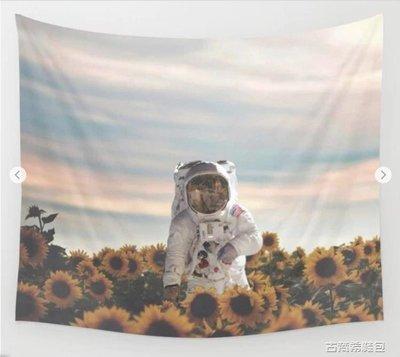 掛毯 ins掛布掛毯裝飾布休閒客廳北歐創意文藝背景布向日葵宇航員