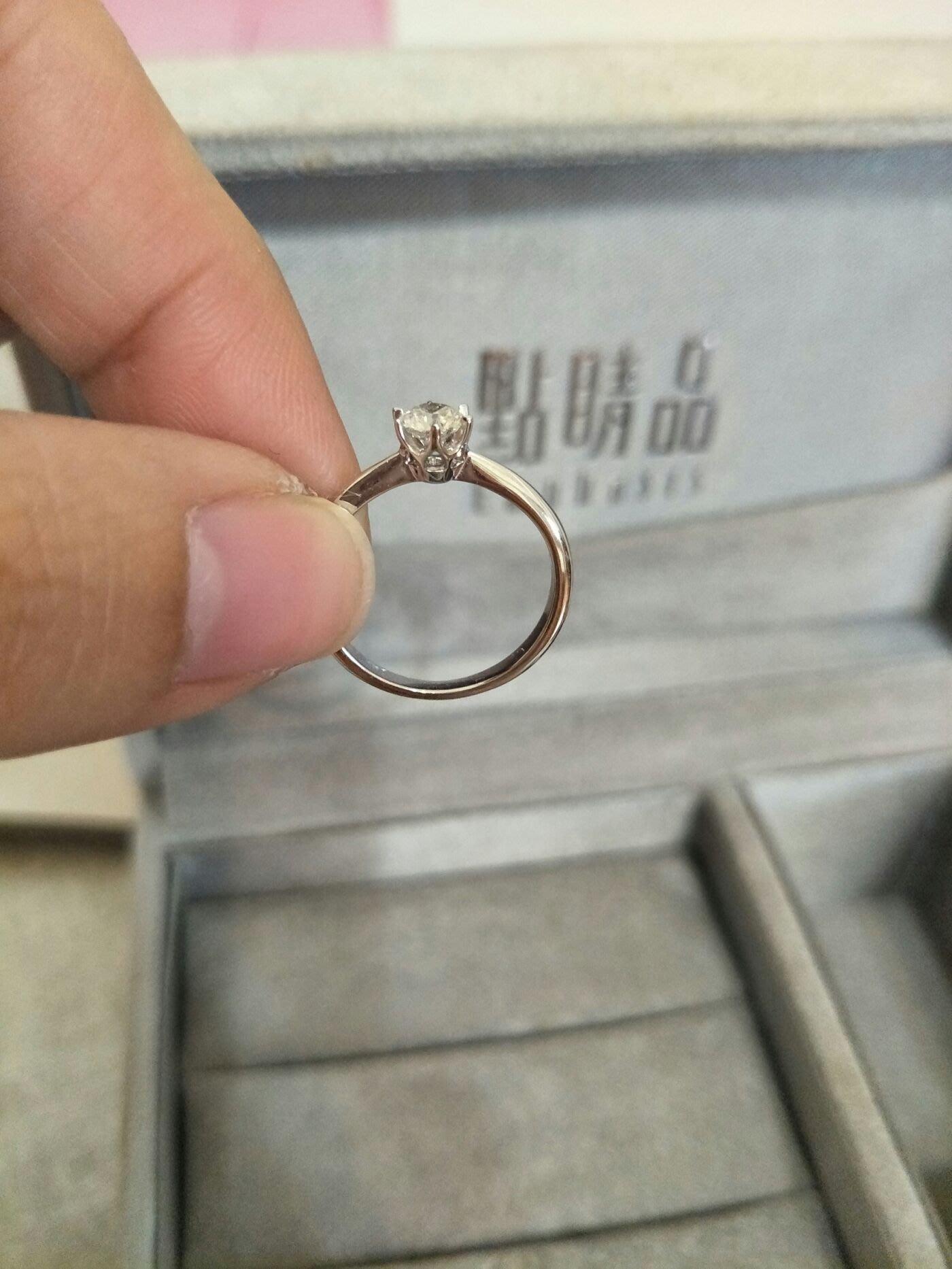 (買到賺到)點睛品求婚鑽戒(GIA 認證)E color