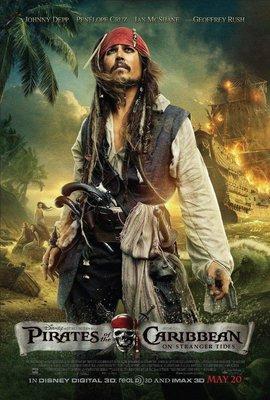 神鬼奇航:幽靈海 - 強尼戴普 (Johnny Depp) - 美國原版雙面電影海報 (2011年)