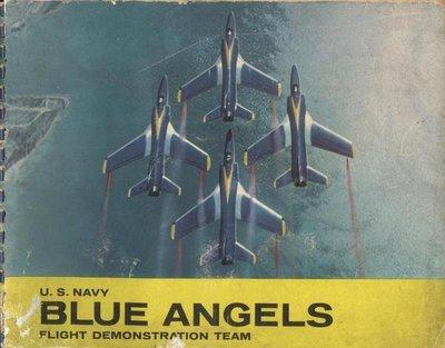 ///李仔糖舊書*美國原版NAVY BLUE ANGELS飛行特刊(k352)