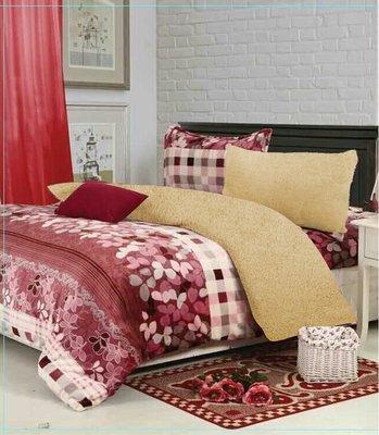 超厚感床包組~羊羔絨 法蘭絨 ~柔情依夢~毛絨感滑順不易掉毛 細緻澎鬆柔軟 高彈性不變型 床包 被套 枕套 單人尺寸