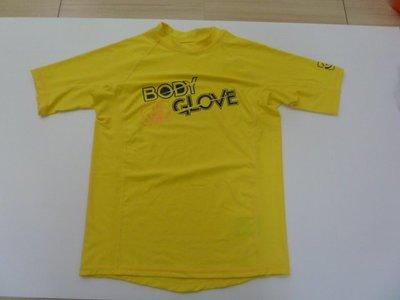 購於美國, 二手Body Glove大男童黃色短袖防曬水母衣, rash guard.無髒汙或破損, 狀況極佳.