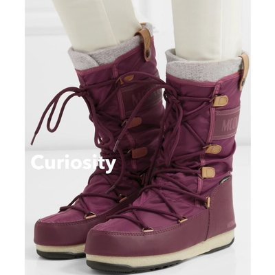 【Curiosity】現貨!義大利經典雪靴潮牌Moon Boot摩納哥毛氈內裡中筒尼龍防水雪靴$6900↘$5199免運