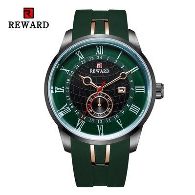 【潮裡潮氣】REWARD防水跨境W爆款矽膠帶男表休閒運動多層立體錶盤時尚潮流RD63094M