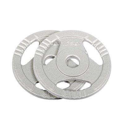 【健魂運動】三抓孔鑄鐵槓片1.25kg/兩片(Tri Grip Iron Weight Plates)
