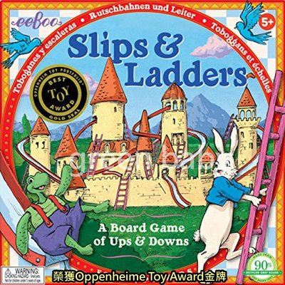 【綠寶貝】 美國 正品 eeboo 美國知名親子桌遊 Slips   Ladders  龜兔競賽 有 商檢標章