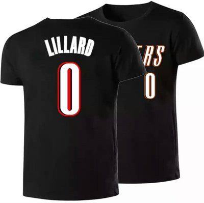 🏀里拉德Damian Lillard短袖T恤上衣🏀NBA拓荒者隊Adidas愛迪達運動籃球衣服T-shirt男614
