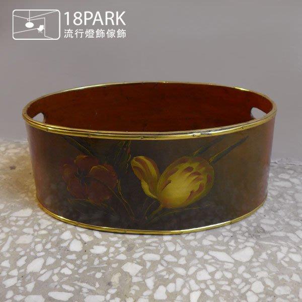 【18Park 】手繪花卉 Vintage [ 法國手繪籃 ]