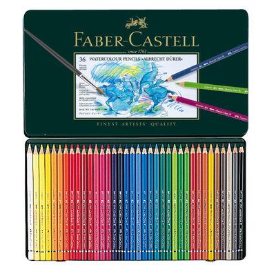 【紙百科】Faber-Castell 藝術家級水性色鉛筆 36色 (綠鐵盒)