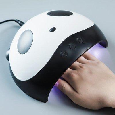 美甲新款熊貓光療機烘干機可愛外觀36W速幹感應LED光療燈初學者精品生活