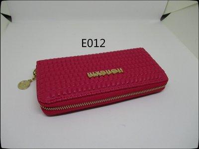 皮姐包弟~E012~桃紅色單拉長夾 手提包 手拿包