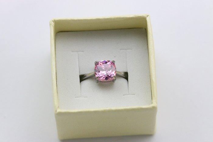 2克拉 方形 碎鑽 鋯石 戒指 情侶 對戒 鑽石 520 表白 情人節 禮物 結婚 告白 925銀戒