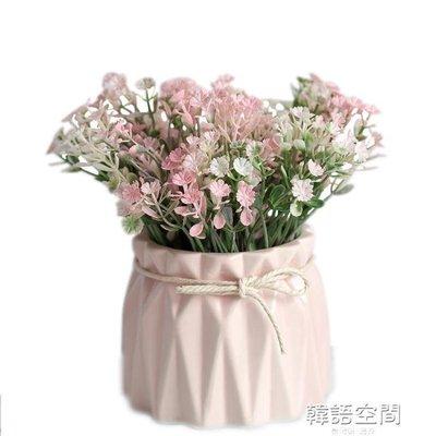 模擬植物小盆栽假花擺件盆景北歐家居客廳桌面裝飾品餐桌花藝擺設