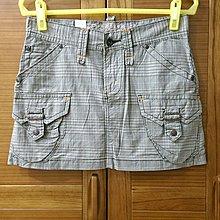 【木風小舖】轉賣Edwin 503 復古格紋 箭型口袋短裙*卡其綠