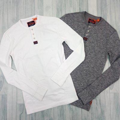 7421 EB5 四色 極度乾燥 亨利領 素面 男版 LOGO 長袖 圓領 T恤 鈕扣 Superdry 上衣 印度製