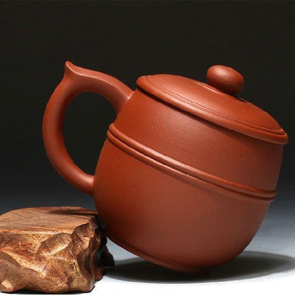 5Cgo【茗道】含稅會員有優惠 39480679767 手工紫砂杯原礦紅泥雙線蓋杯子創意紫砂茶杯功夫茶具馬克杯