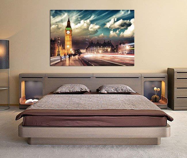 客製化壁貼 店面保障 編號F-056 英國夜景 壁紙 牆貼 牆紙 壁畫 星瑞 shing ruei