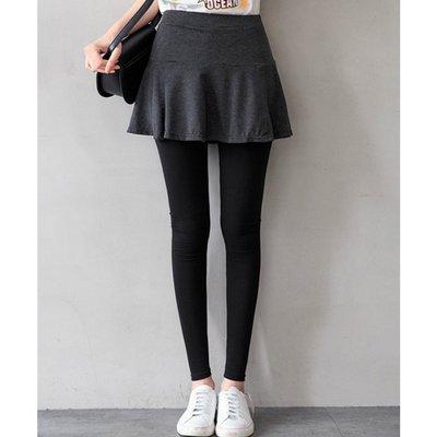 【Hao Da】全館399免運↘「M~XL。現貨」假兩件傘擺 棉質褲裙 內搭褲 (P1147)