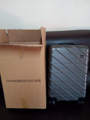 ╭°☆幸福愛麗絲☆°╮ REBACCA 20吋ABS寬斜紋時尚灰色行李箱