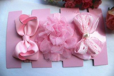 ☆草莓花園☆女童髮帶 時尚可愛花朵蝴蝶結頭飾 百搭款 花色組合23  附精美外盒